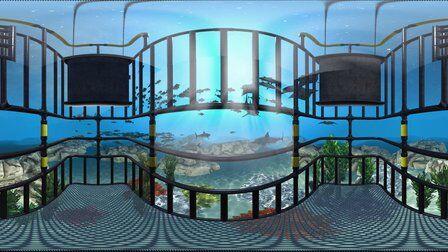 VR全景视频:鲨鱼主题游戏
