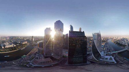VR全景视频:航拍莫斯科城