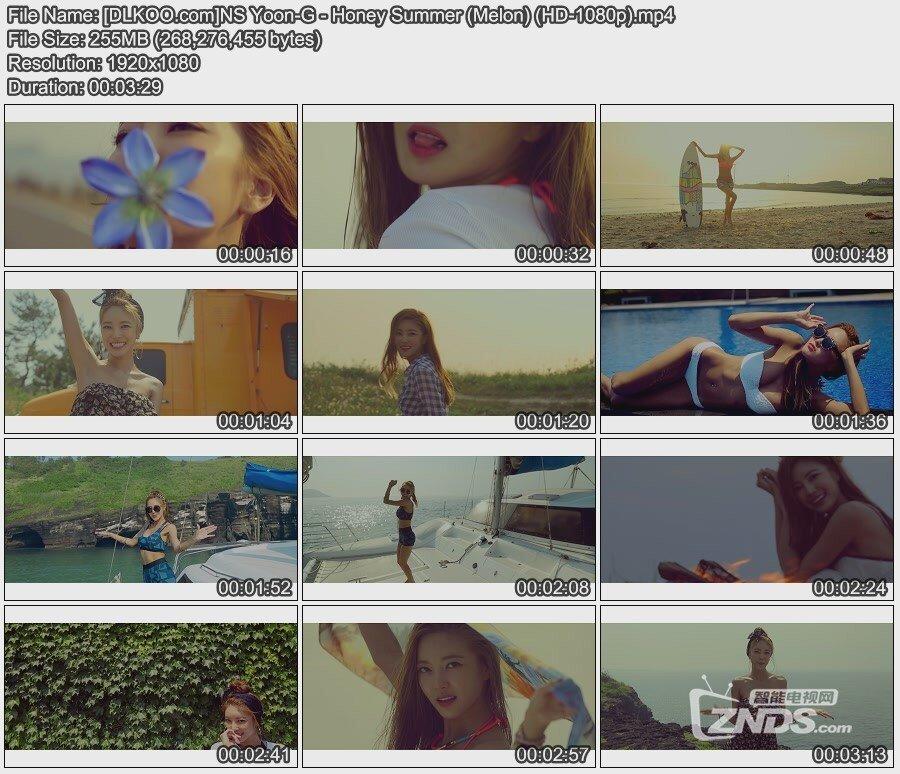 720p投影机_允智 NS Yoon-G - 甜蜜夏日 Honey Summer (Melon HD)[MP4-1080p/255MB]_高清MV ...
