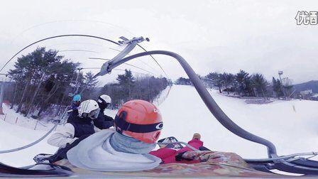 VR全景视频:第一人称VR全景360°滑雪视频